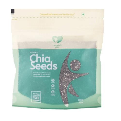 NOURISH YOU BLACK CHIA SEEDS 150GM