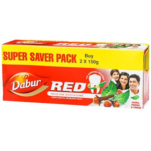 DABUR RED TOOTHPASTE 2*150g