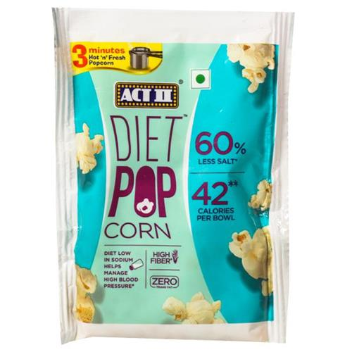 ACT II DIET POP CORN LESS SALTED 70gm
