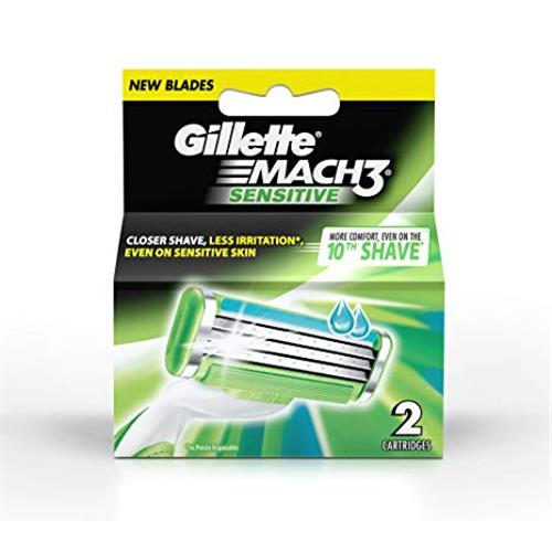 GILLETTE MACH3 SENSITIVE 2 CARTRIDGES.