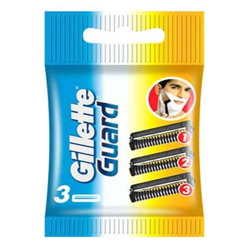 GILLETTE GUARD 3 CARTRIDGES...
