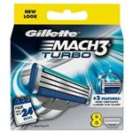 GILLETTE MACH-3 TURBO 8 CART. GET 2 FREE