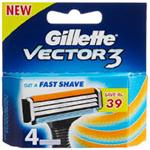 GILLETTE VECTOR-3 4 CARTRIDGES