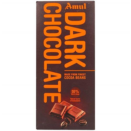 AMUL DARK CHOCOLATE COCOA BEANS 150GM